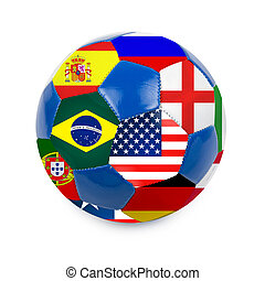 focilabda, noha, brazil zászló