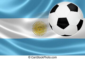 focilabda, szökell, ki, közül, argentinian lobogó