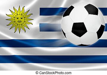 focilabda, szökell, ki, közül, uruguayi, lobogó