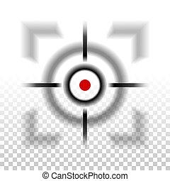 foco, fondo velado, icono, selectivo, a cuadros