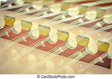 foco, instrumento, seletivo, música, dulcimer