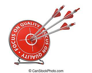 foco, ligado, qualidade, conceito, -, golpe, target.