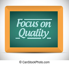 foco, ligado, qualidade, ilustração