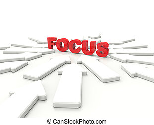 Focus 3d word concept