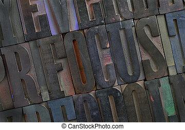 focus - alphabet abstract
