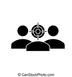 focus avatar  icon, vector illustration, sign on isolated background