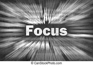 Focus concept with other related words - Focus word with...