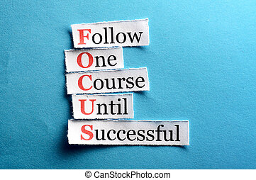 focus cut - Focus acronym in business concept, words on cut...