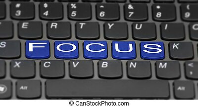 focus - this is a image of laptop keypad with added effect.