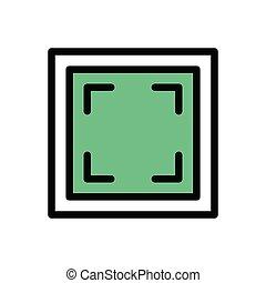 focus flat color icon