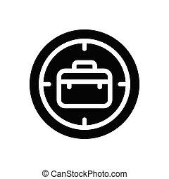 focus  glyph flat icon