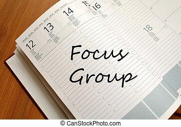 Focus group text concept