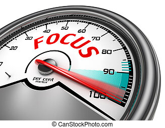 Focus level hundred per cent conceptual meter