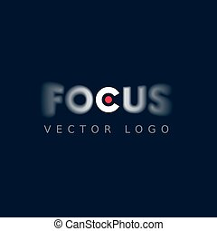 Focus logo on dark background. Eps8. RGB. Global colors