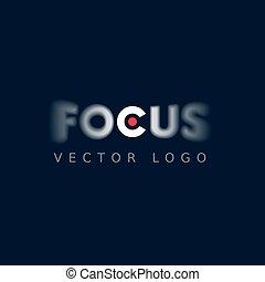 Focus logo on dark background. Eps8. RGB. Global colors