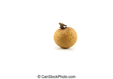 focus longan. - focus longan on the white background.