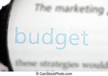 Focus on budget