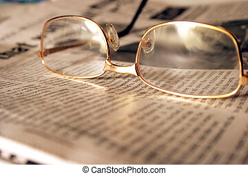 Focus on Evening News - Reading Glasses on the evening ...