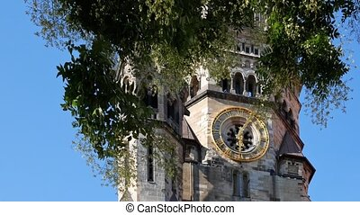 Focus On Kaiser Wilhelm Memorial Church Behind A Tree In...