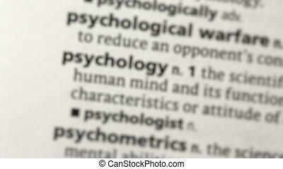 Focus on psychology in the dictionary