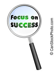 Focus on SUCCESS icon