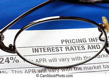 Focus on the interest rate in a credit card disclosure ...