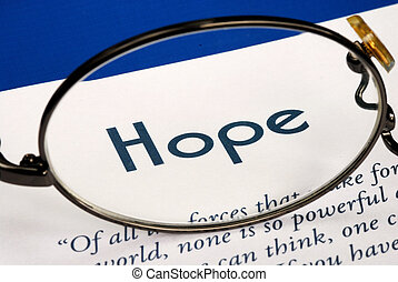 Focus on the word Hope