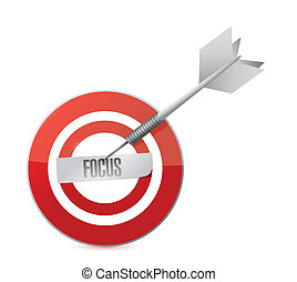 focus target and dart illustration design