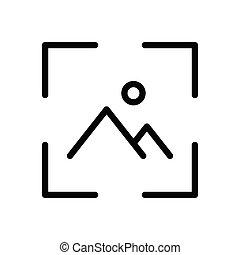 focus  thin line icon