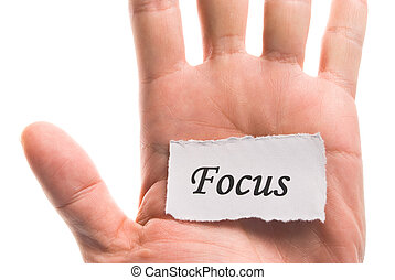 Focus word in hand