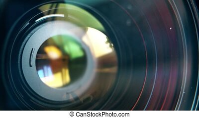 Focusing lens of digital camera. The Lens Of The Camera....