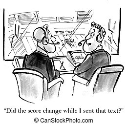 """Focusing on Texting - """"Did the score change while I sent..."""