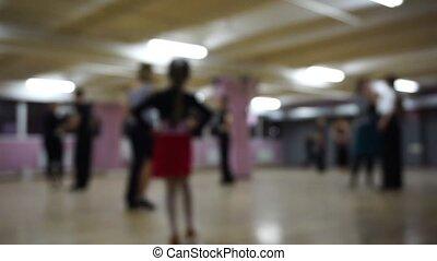 Focusless ballroom dancers on the dance floor - Focusless...