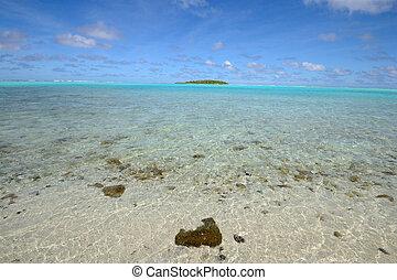 fod, ø, aitutaki, lagune, æn