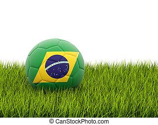 fodbold, hos, flag, i, brasilien