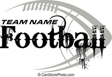 fodbold, konstruktion, hos, bold
