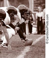 fodbold, offensiv linje