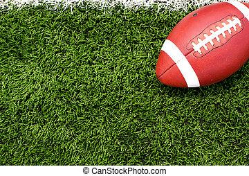 fodbold, på, den, felt