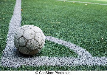 fodbold soccer, felt, stadion, græs, beklæde, bold, baggrund