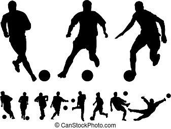 fodbold, vectors
