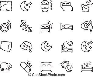 fodra, sömn, ikonen