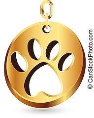 fodspor, hund, logo