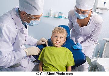 fogász, gyermek