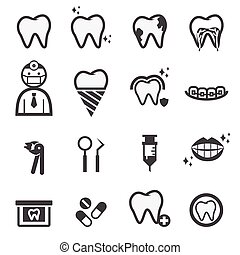 fogászati, ikonok