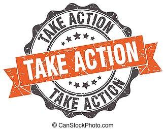 fog, akció, stamp., cégtábla., fóka