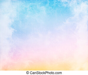Fog and Pastel Gradient - Fog and clouds on a colorful...