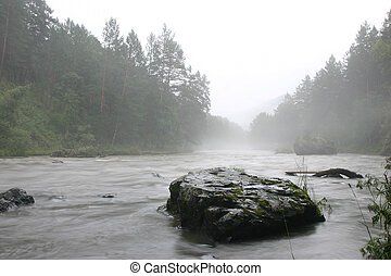 fog and river - foggy river