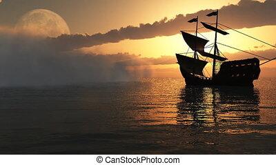 fog and ship