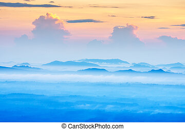 Fog cover mountain