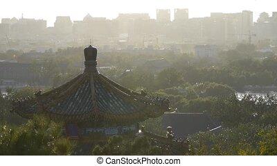 Fog dust haze cover Beijing pavilion & metropolis high rise...
